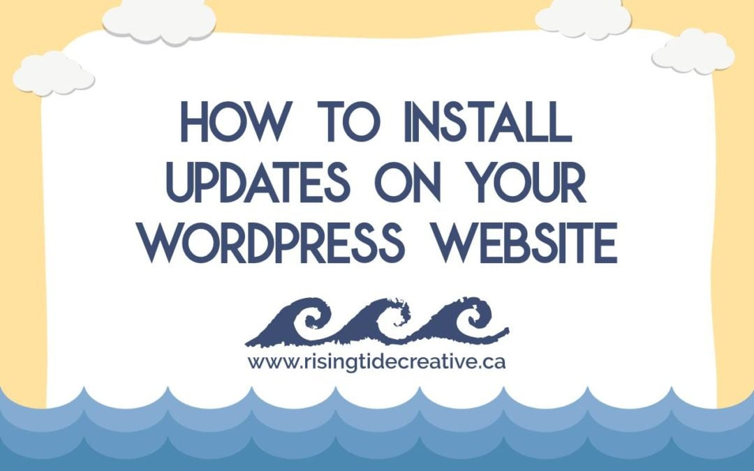 how to install updates on wordpress website